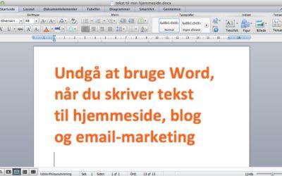 Drop Word når du skriver til WordPress