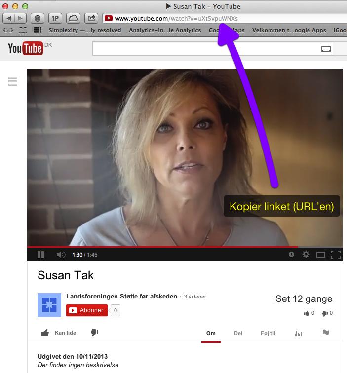 Sådan lægger du YouTube video på WordPress blog eller hjemmeside