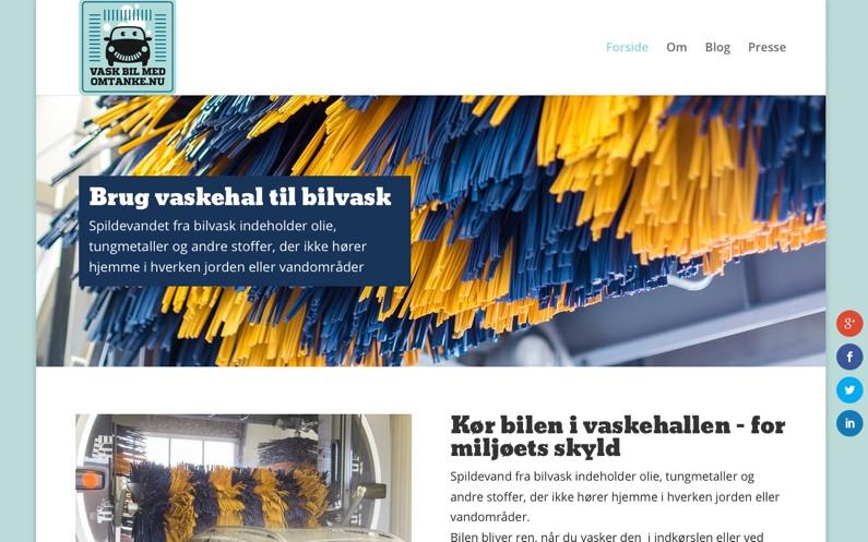Kampagnewebsite med vaskeblog