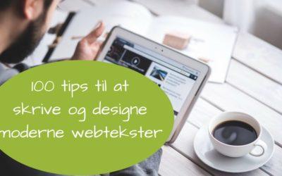 100 tips til at skrive og designe moderne webtekster