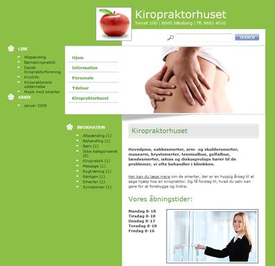 kiropraktorhuset.dk | WebWoman Webdesign