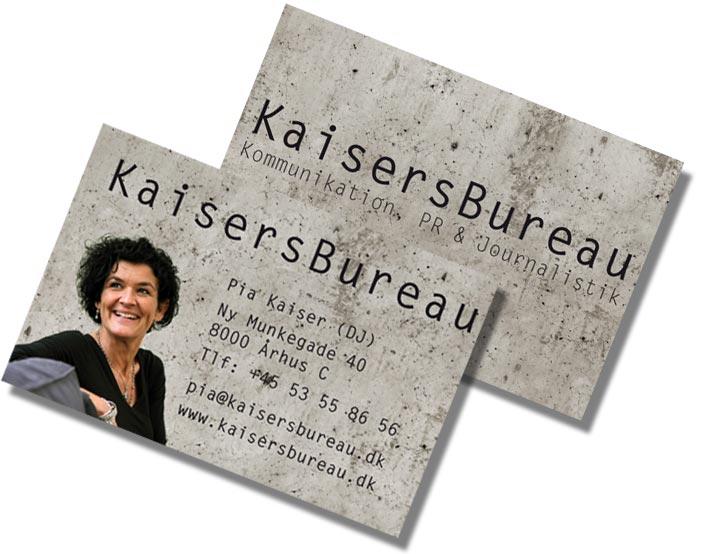 Visitkort og website i samme stil