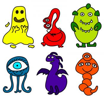 Lisbeth Scharling fra WEBwoman KOMMUNIKATION har opfundet hismoglyffer - Google-bots pivedyr. De er tegnet af © Iva Villi  og købt hos Dreamstime.com