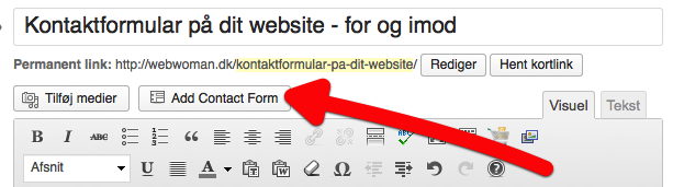 Kontaktformular på WordPress – for og imod