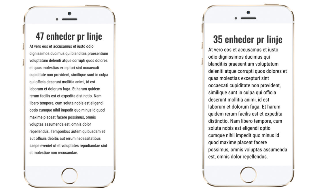 Hvor lange må linjer være i mobilvenlig tekst