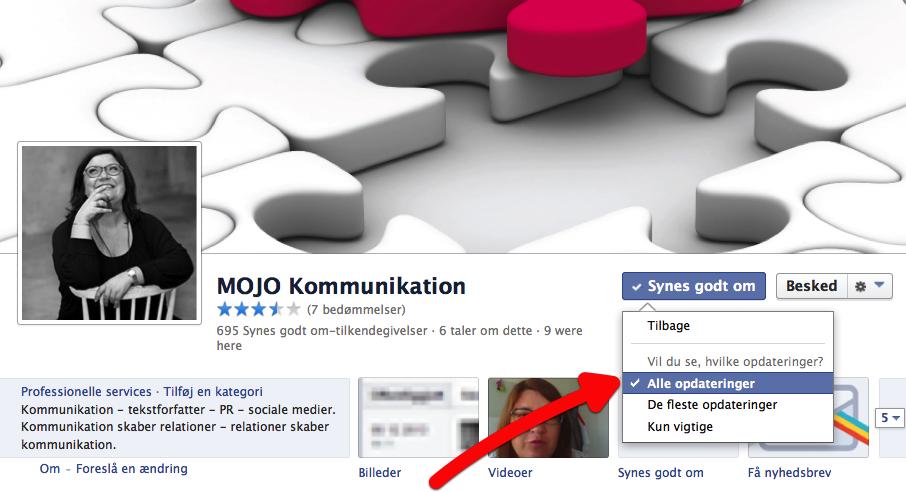 Får du for lidt MOJO – på facebook