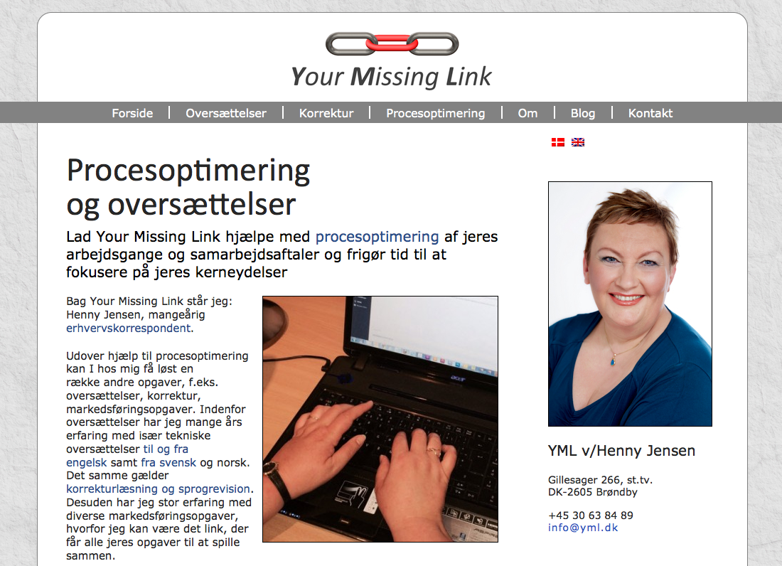yml.dk – nyt website til Henny Jensen